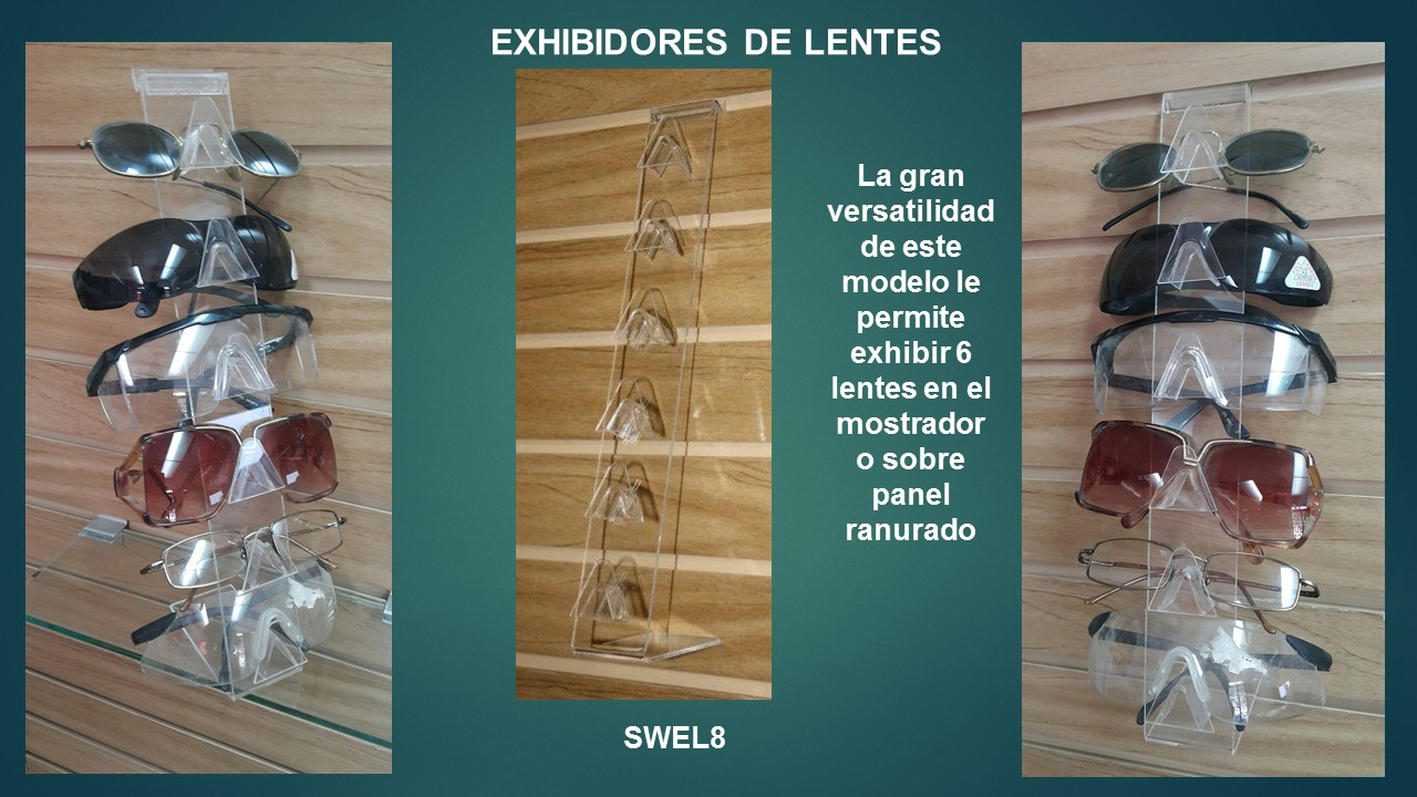 Exhibidores multiple de lentes en exhibipanel